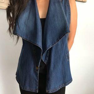 Kut from the Kloth asymmetrical denim vest size S